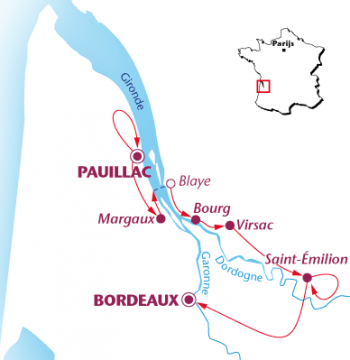 Map Bordeaux Grand Cru